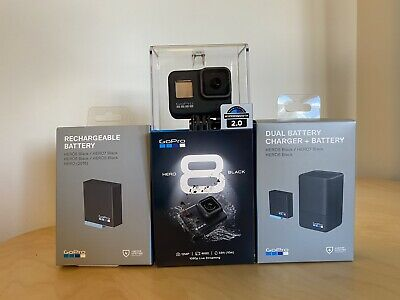 AU469 • Buy GoPro HERO8 Black Action Camera & Dual Battery Charger (Brand New)