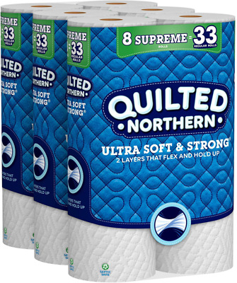 $ CDN41.08 • Buy Quilted Northern Ultra Soft  Strong Toilet Paper, 24 Supreme Rolls, 340 2-Ply S