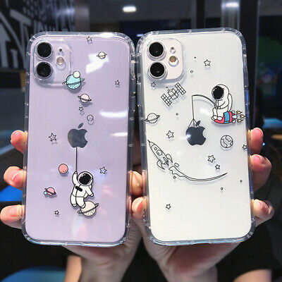 AU5.55 • Buy Cute Astronaut Silicone Clear Soft Case Cover For IPhone 11 Pro Max XS XR X 7 8+