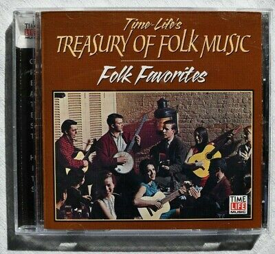Time-Life's Treasury Of Folk Music:  Folk Favourites  CD USA 2000 Excl Cond • 6£
