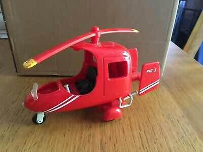 Postman Pat 3 Red Musical Helicopter Smaller Size 2008 • 5.99£