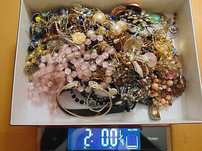 $ CDN39.55 • Buy Unsearched Vintage -Now Junk Drawer Jewelry Lot - Thrift Store Find - 2 Pounds!