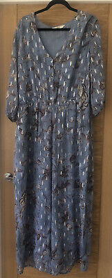 Jumpsuit 20 Next Powder Blue And Silver With Wide Leg Trousers • 4£