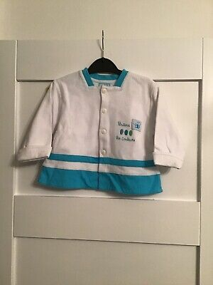 Bnwt Marese Baby Girls/boys Designer Blue And White Jacket Age 12-18 Months • 2.99£