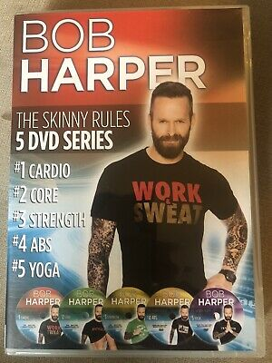 Bob Harper The Skinny Rules - 5 Disc Set DVD Series UK Version • 14.99£