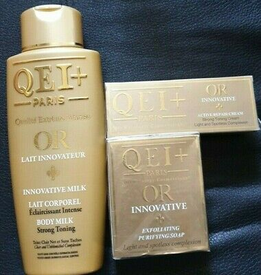 $ CDN59.60 • Buy QEI+ Paris OR Innovative Body Milk Strong Toning Lotion Cream And Soap