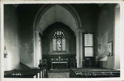 £6 • Buy Real Photo Postcard Of Willingale Spain Church Interior (near Chelmsford), Essex