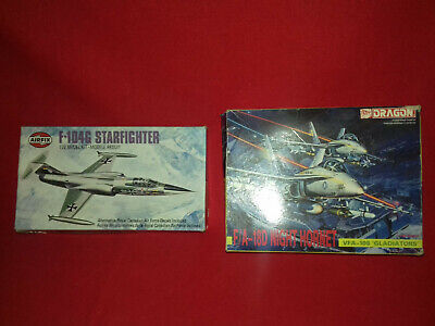 AirFix F-104G Starfighter Jet 1/72 (1975) And Dragon Night Hornet 1/114- Spares? • 7£