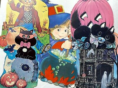 $ CDN18.77 • Buy Vintage Halloween Paper Decorations Lot Of 5 Die Cut Pieces Pre-owned