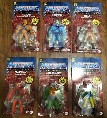 $0.99 • Buy Masters Of The Universe MOTU He-man Full Set Of Wave 1 Retro Play Unpunched MOC