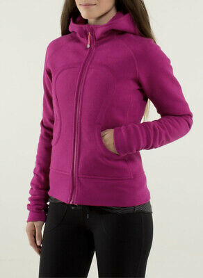 $ CDN85 • Buy LULULEMON ATHLETICA  Berry Cotton SCUBA HOODIE JACKET/ Coat Size 8 MEDIUM