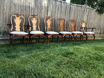 $995 • Buy  Set Of 6 STICKLEY Mahogany Philadelphia Queen Anne Dining Room Chairs
