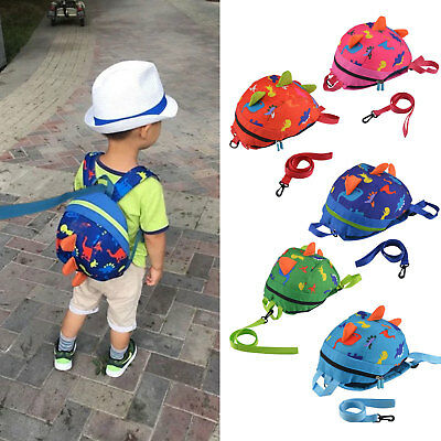 Cartoon Baby Toddler Kids Dinosaur Safety Harness Strap Bag Backpack  With Reins • 6.99£