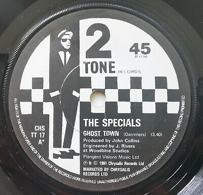 The Specials Ghost Town Paper Labels: Two-Tone Records CHS TT 17 Vinyl 7inch  • 1.99£