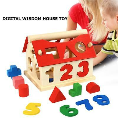 £6.99 • Buy Educational Baby Montessori Toys Wooden Puzzle Stacking Blocks Early Learning UK