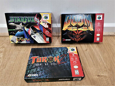AU41 • Buy Ntsc- N64- Nintendo 64 Boxes Only- No Games- No Inserts- No Booklets- Doom