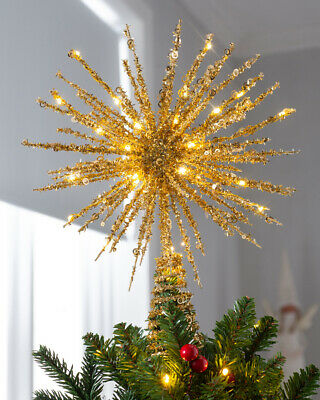 Starburst Christmas Tree Topper With 25 Warm White LEDs, 32 Cm • 14.99£