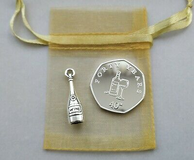 £8.99 • Buy 'Happy 40th Birthday' Silver Plated Commemorative Coin & Charm GIFT SET /Present
