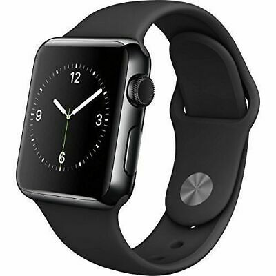 $ CDN171.64 • Buy Apple Watch Series 2 42mm GPS Stainless Steel Space Black Case Black Sport Band