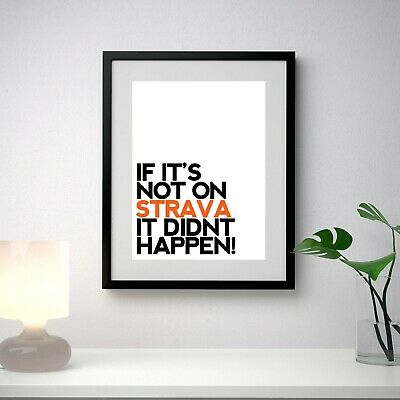 Strava KOM Poster, Funny Quote, Cycling Bike, Wall Art, Poster • 4.89£