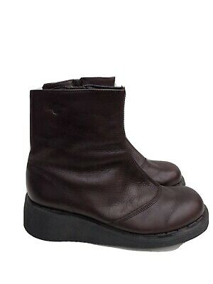 Dr Martens Ankle Wedge Boots Burgundy  Size 6 • 9.50£