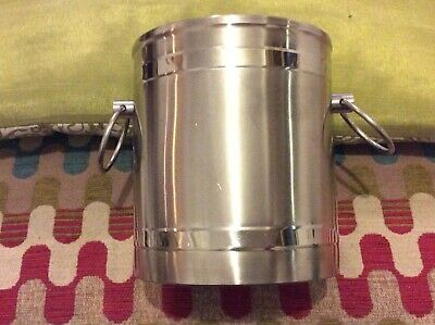 Viners Of Sheffield Stainless Steel Ice Champagne Bucket Wine Cooler ?? • 3.50£
