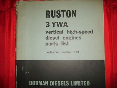Ruston And Hornsby 3YWA Spares Manual • 20£