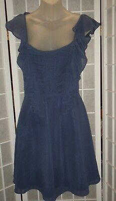 AU5 • Buy FOREVER NEW Blue Polyester Dress Size 6