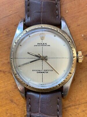 AU3800 • Buy ROLEX Midsize 18K Oyster Perpetual 6050 Automatic, C.1948 Swiss LV794.