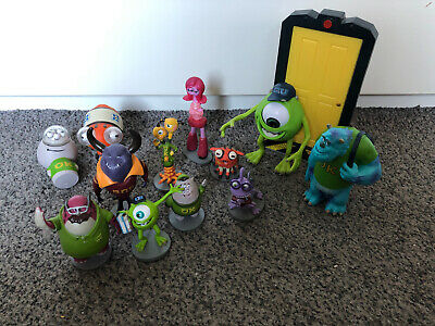 Disney Store Monsters University Inc Figures Perfect Cake Toppers And Rare Door • 10.99£
