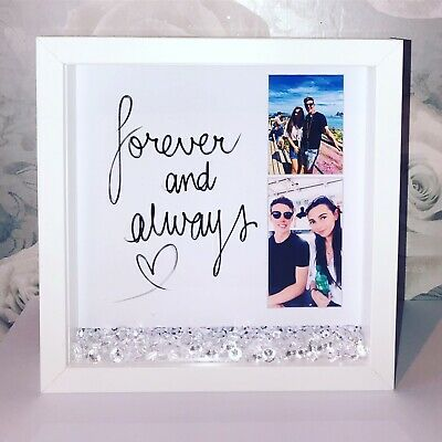 Personalised Wooden Box Photo Frame For Loves One Boyfriend Or Girlfriend Gift • 15.99£