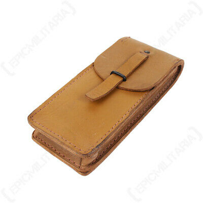 £6.95 • Buy WW2 Military French Army Small Surplus Leather Pouch Bag  - Tan