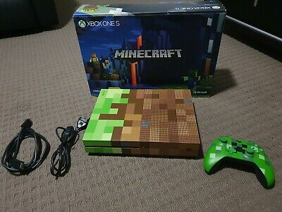 AU55 • Buy Microsoft Xbox One S Minecraft Limited Edition Bundle 1TB  - Like New