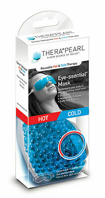 SALE THERA PEARL Eye Mask Gel Bead Hot Cold Ice Pack Wrap Pain Relief Compress • 8.52£