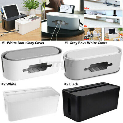 Home Cable Storage Box Wire Management Socket Case Safety Tidy Organizer Hot • 8.88£