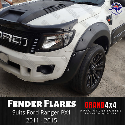 AU189 • Buy Black Fender Flares FRONT ONLY Guard Cover To Suit Ford Ranger PX1 2011 - 2015