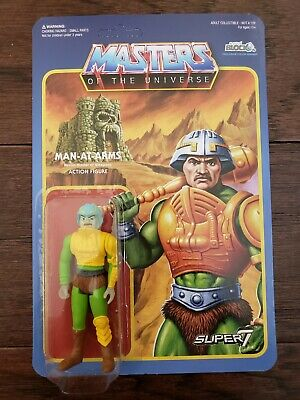 $44.99 • Buy Super7 ReAction Masters Of The Universe Figure MOTU Nerd Block Man At Arms Mint