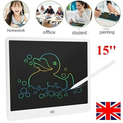 15'' LCD Tablet Drawing Writing Board Kid Notepad EWriter Digital Graphic Gifts • 14.99£