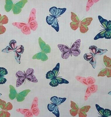 £3.75 • Buy Butterfly Polycotton Fabric Butterflies Sewing Craft Material