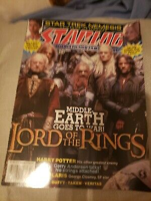 $4.99 • Buy Starlog Magazine Lord Of The Rings February 2003