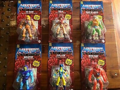 $179.99 • Buy He-Man Masters Of The Universe Origins 6 Figure Complete Set MIP New Unpunched