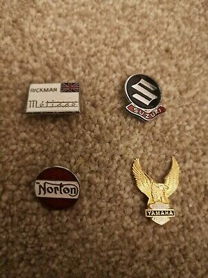Motorcycle  Metal Enamel Pin Badges Norton, Suzuki, Yamaha, Rickman • 4.27£