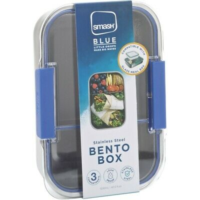 AU20 • Buy Smash Blue Stainless Steel Bento Lunch Box - Assorted*