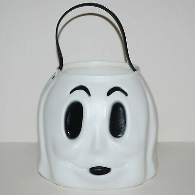 $ CDN33.32 • Buy Halloween Ghost White Plastic Blow Mold Candy Bucket Vintage 80's 90's Empire
