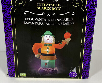 $ CDN88.19 • Buy HALLOWEEN INFLATABLE AIRBLOWN SCARECROW 7FT  LED Illuminated New In Open Box
