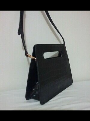 AU85 • Buy New OROTON  Stella Textured Small Black Clutch Crossbody Bag