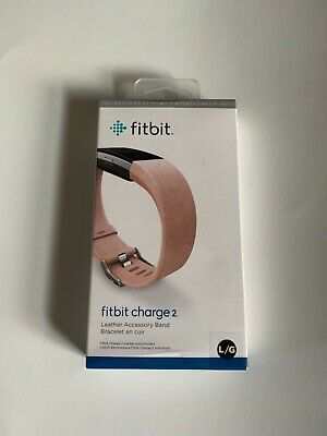 $ CDN47.99 • Buy FITBIT CHARGE 2, Large, Leather Accessory Band, Blush Pink, Good Gift