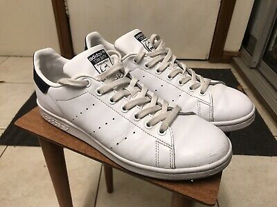 AU47 • Buy Mens ADIDAS Stan Smith White Navy Blue Sneakers Sz US 9 #16239