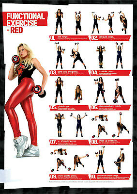 Dumbbells Workout Poster   A4 A3 A3+ Lamination   HD Print Fitness Gym Exercise • 7.99£