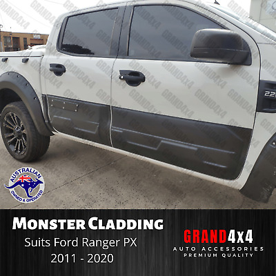 AU168 • Buy Door Body Cladding MONSTER Side Moulding Trim Suit Ford Ranger PX 2011 - 2020